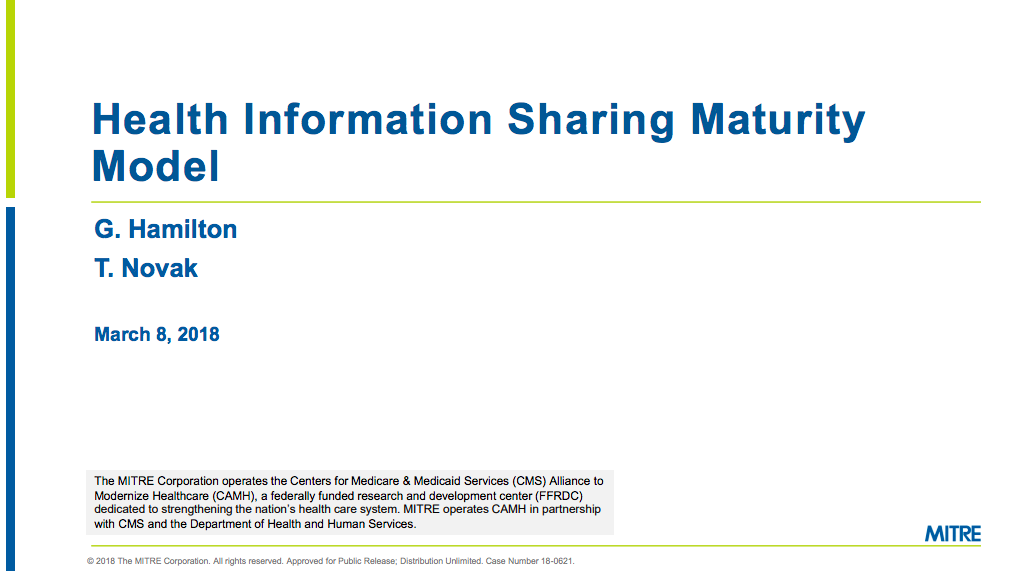 Health Information Sharing Maturity Model