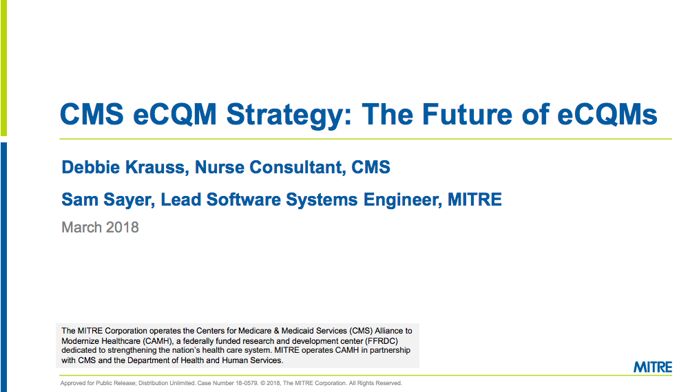 CMS eCQM Strategy: The Future of eCQMs