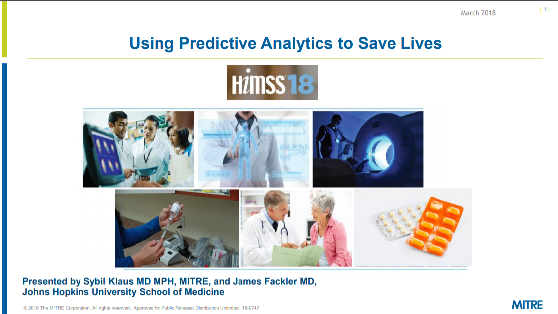 Using Predictive Analytics to Save Lives